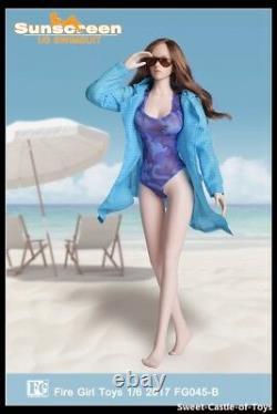 1/6 Fire Girl Toys Accessory FG045 Female Camouflage Swimsuit Uniform Set
