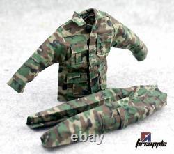 1/6 Male Soldiers Jungle Camouflage Combat Uniforms Clothes Set F 12'' Figure