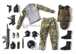 1 x New Set of 1/6 Soldiers Camouflage Uniform Guns & Assy For 12 Action Figure