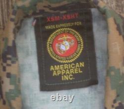 2 Sets Marine Corps MARPAT Digital Extra Small Desert & Woodland Camouflage USMC