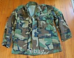 2 Sets US Army Woodland Camouflage Field Jacket & Pants Large Sargent Insignia