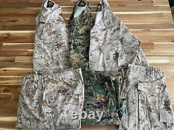 3 Sets Marine Corps MARPAT Digital Med Reg Desert & Woodland Camouflage USMC