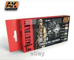 AK INTERACTIVE Figure Series M44 Camouflage Uniform Acrylic Paint Set AKI3020