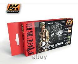 AK Interactive ACRYLIC PAINT SET M-44 CAMOUFLAGE UNIFORM 6 COLOR SET