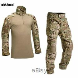 AichAngeI Tactical Camouflage Military Uniform Clothes Suit Men US Army clothes