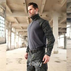 Army Military Uniform Complete Set Shirt Cargo Pants Training Camouflage Combat