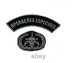 Brazilian Army Special Operations unit sleeve patch set for camouflage uniform