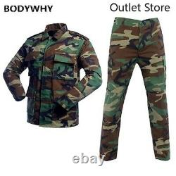 Camouflage Tactical Uniforms Men Army Combat Suit Sets Military Clothing Sets