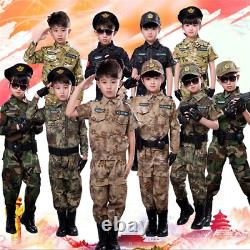 Children Military Tactical Costumes Camouflage Suit Outdoor Training Uniforms
