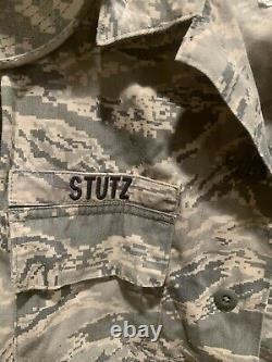 Complete US Air Force OCP Uniform Coat, Trouser, Hat Large Set Camouflage w Name