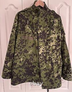 Danish M84 Camouflage Uniform Set- Jacket, Pants, Cap-HMAK -Flektarn