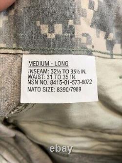 Digital Camouflage 4 Sets Shirts & Pants New Med Long Pants 32-35 ACU