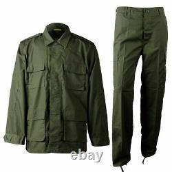 Fatigues Military Camo Uniform Vintage Army Ripstop Tactical Cargo Jacket, Pant
