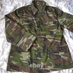 Genuine New Set Turkish Army 2000s woodland camouflage uniform bdu camo
