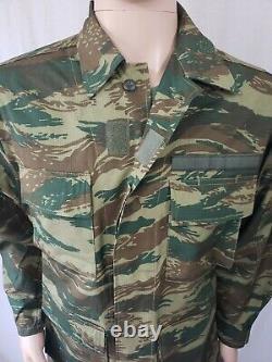 Greek Army Military Surplus Lizard Woodland Camouflage Combat Uniform Set Medium
