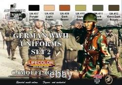 LIFECOLOR CS5 German WWII Uniforms #2 Camouflage Paint Set 6 Colors FREE SHIP