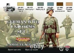 LIFECOLOR GERMAN WWII UNIFORMS CAMOUFLAGE SET. 1 cod. CS04