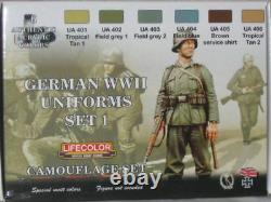 Lifecolor World War II Camouflage German Uniforms Set #1 Acrylic Paint Set #CS04