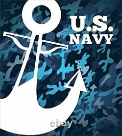 Lunarable US Navy Duvet Cover Set Uniform Design with Camouflage Style Blue T