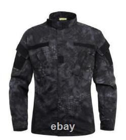 Men Jacket Pants Sport Military Coat Tactical Trouser Combat Uniform Outdoor Set