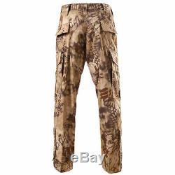Men Jacket Pants Suit Military Coat Tactical Trousers Combat Uniform Army Set
