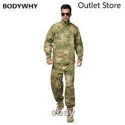 Men Military Uniform Combat Shirt Man Army Tactical Camouflage Clothing Set