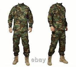 Men Military Uniform Multicam Black Camouflage Suit Tactical Clothing Paintball