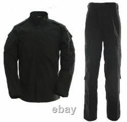 Men Uniform Camouflage Suit Black Air Soft Paintball Equipment Microfiber Clothe