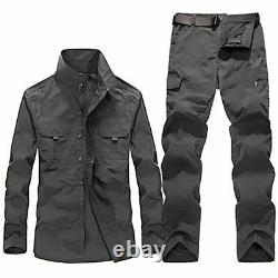 Men's Military Clothing Tactical Uniforms Summer Quick Dry Shirts Cargo Pants