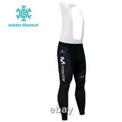 Men's Team Fleece Cycling Winter Jersey Thermal Bib Pants Set Clothing Uniforms