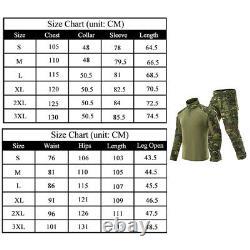 Mens Airsoft Tactical Gen3 Combat T-Shirt Pants Special Forces BDU Uniform Camo