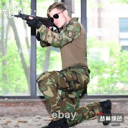 Mens Army Combat Shirt Pants Suit Airsoft BDU Tactical Uniform Set Special Force