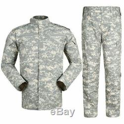Mens Army Military Tactical Combat Jacket Pants Set Camouflage Uniform Outdoor