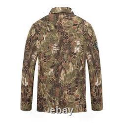 Mens Camouflage Uniform Python Pattern Tactical Suits Outdoor Jacket Pants Sets