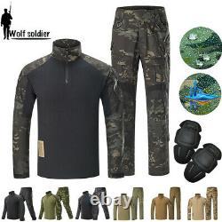 Mens Military Combat Shirt Pants Tactical BDU Uniform SWAT Gen3 Sets Camouflage