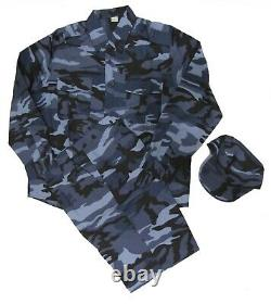 Middle East Police Blue Urban Pattern Camouflage Set Size XXL With Cap