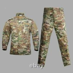 Military Uniform Camouflage Combat Airsoft Tactical Jacket Pants Set ACU CP