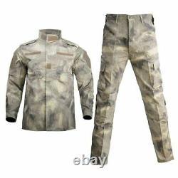 Military Uniform Camouflage Tactical Suit Men Army Combat Shirt Coat Pant Set
