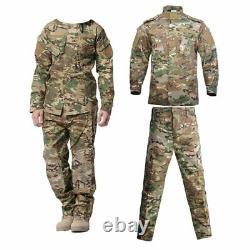 Military Uniform Camouflage Tactical Suit Men Army Special Forces Combat Shirt
