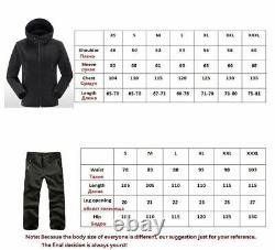 Military Uniform Set Tactical Pants And Hooded Jacket Airsoft Army Suit Combat