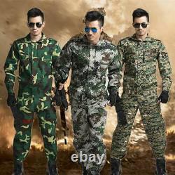 New Men's Tactical Camo Combat Airsoft Set Jacket+ Pant Military Uniform Hiking