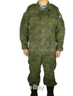Russian military uniform Woodland digital Camouflage suit Army uniform Men Green