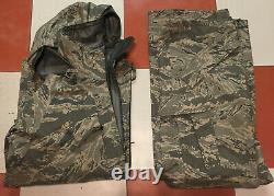 SET USAF APECS ABU GORE TEX TIGER STRIPE ALL PURPOSE PARKA & Pants size Med Reg