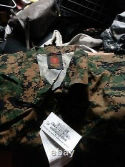 Set Of Usmc Woodland Marpat Camouflage Uniform Mccuu Large Reg Blouse/trouser