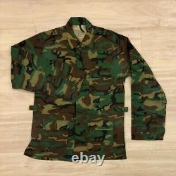 Singapore Army Woodland Camouflage Jacket & Pants Set Military Uniform SM Size