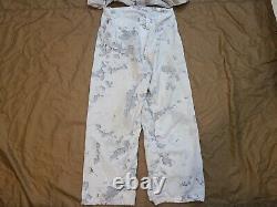 Snow Camo/Snow MARPAT USMC Top/Bottom Medium Long Overwhite Set RARE Camouflage