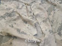 Snow camo MARPAT USMC Top/Bottom Large Regular Overwhite Set RARE Camouflage