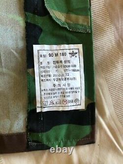 South Korean Army Military Surplus Camouflage Combat Uniform Set Top/Bottom