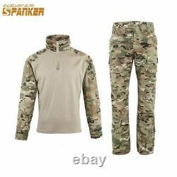 Tactical Military Combat Uniform Set Mens Camouflage Army Pants Shirt Training