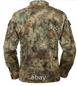 Tactical Python Camouflage Hunting Clothes Jacket Pants Suit Uniform Set